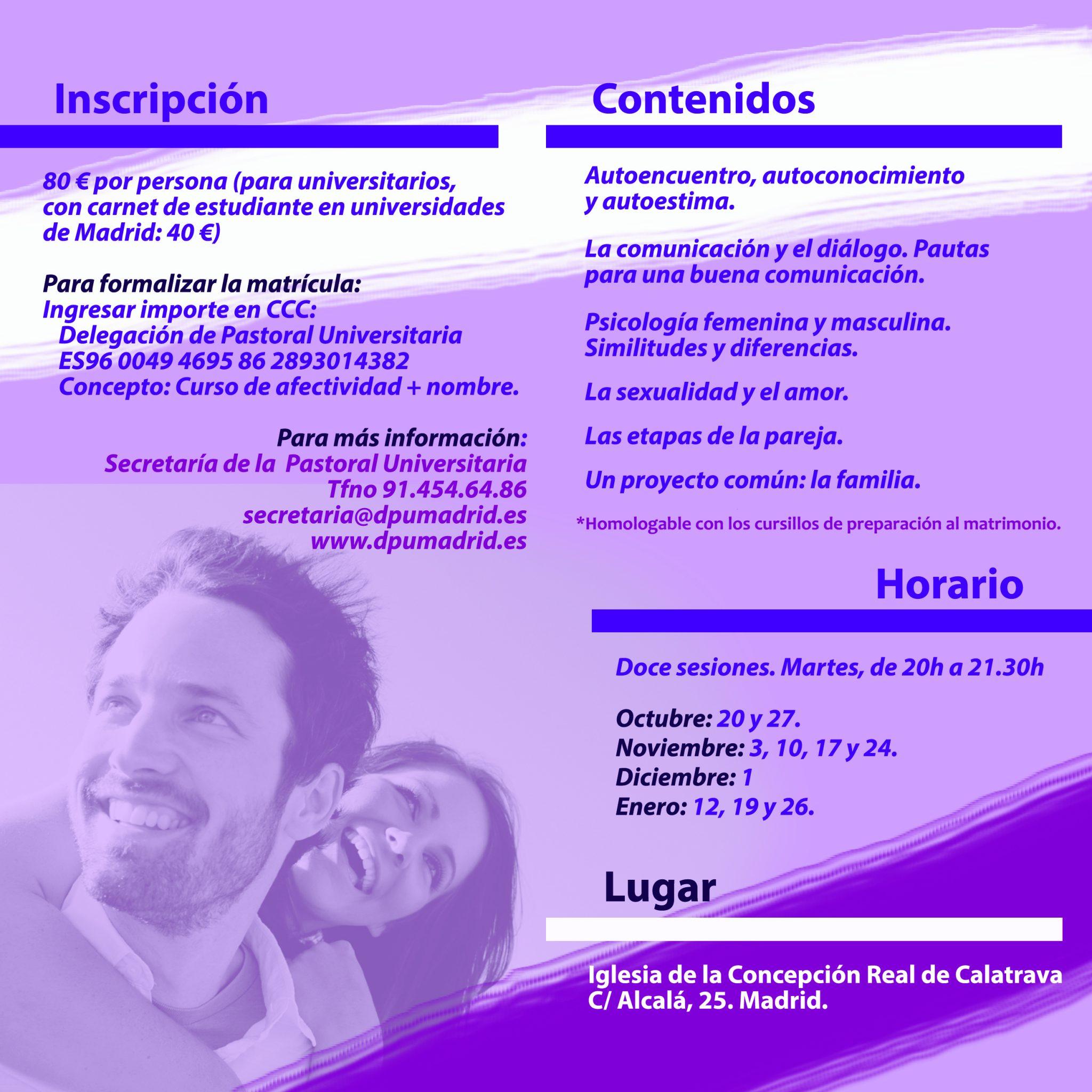 Folleto Curso de Amor Humano Semanal - 2015